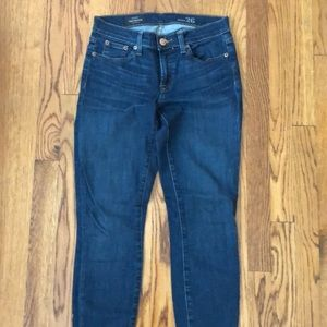 Jcrew toothpick jeans ankle length mid rise